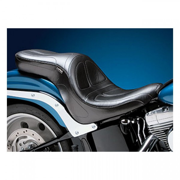 "LEPERA Seat - ""LePera, Maverick 2-up seat"" - 06-17 Softail with 200 rear tire (NU)"