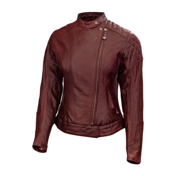 ROLAND SANDS DESIGN women's leather jacket Riot in oxblood