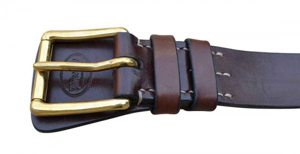 Timeless Leather Military Belt brown