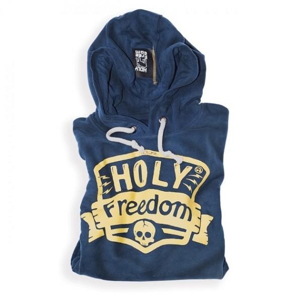 "HOLY FREEDOM Men's Hoodie - ""Navy"" - blue"