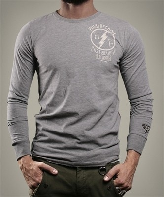 "HOLY FREEDOM Men's Longsleeve - ""Officina Gray"" - grey"