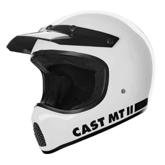 CAST MT II Weiß Retro Cross Helm