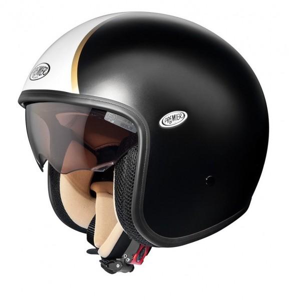 """PREMIER Vintage - """"black-matt-white"""" - Helmet"""