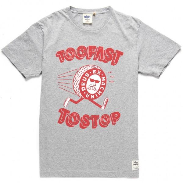 "DEUS EX MACHINA T-Shirt - ""Too Fast Tee"" - grey"