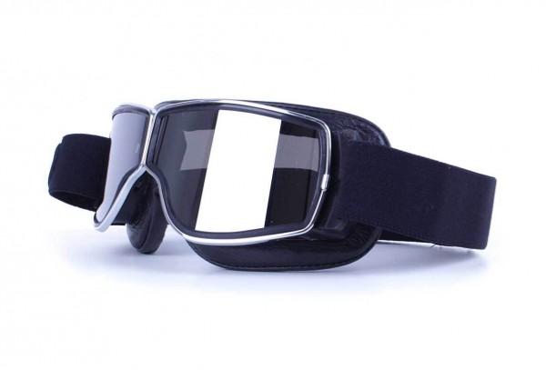 AVIATOR Brille T2 schwarz chrom silber verspiegelt