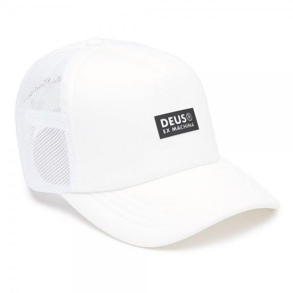 """DEUS EX MACHINA Hat - """"Silicon Trucker"""" - white"""