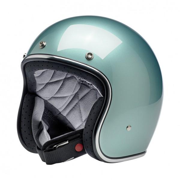 Biltwell Bonanza Metallic Sea Foam Helmet DOT