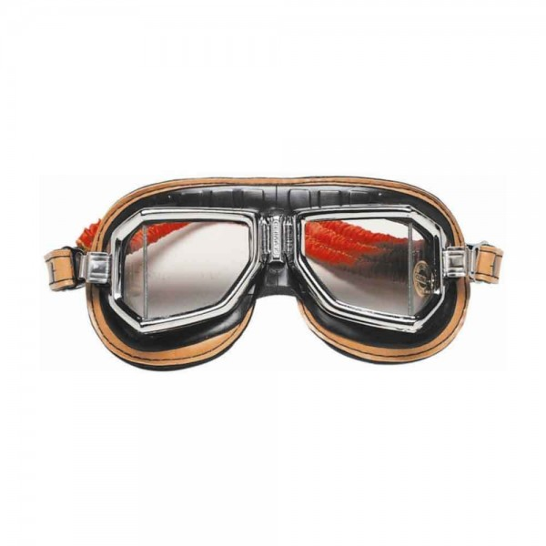 "CLIMAX Goggles - ""513-S"" - chrome & brown"