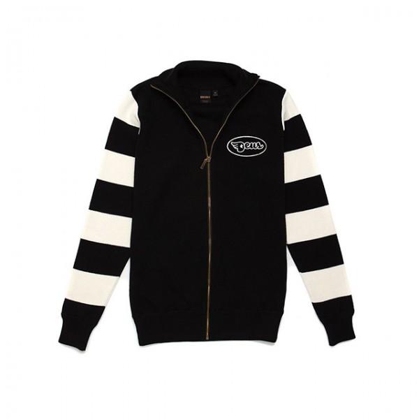 DEUS EX MACHINA sweatjacket Buzz Zip Thru in black