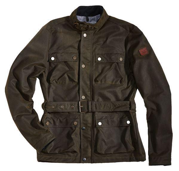 """ROKKER Jacke - """"Wax Cotton Jacket Long"""" - grün"""
