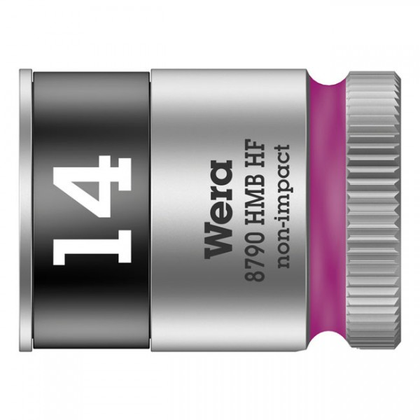 """WERA Tools - """"Zyklop 3/8"""" socket with holding function - Metric 14.0"""" - Hex bolts and nuts"""