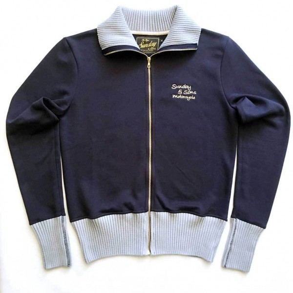 "SUNDAY SPEEDSHOP Sweatjacket - ""Sunday & Sons Docker"" - blue"