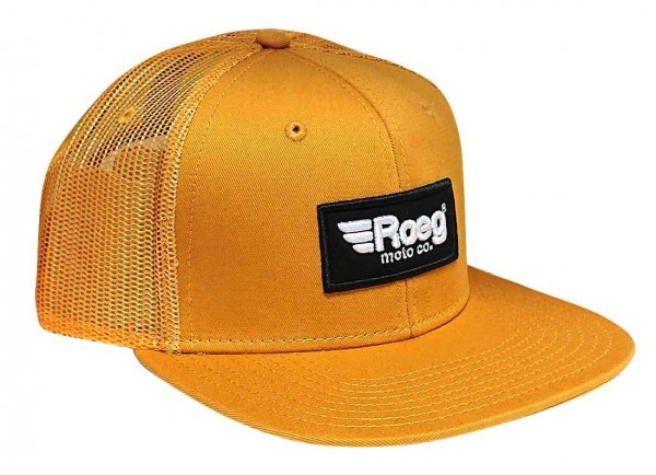 "ROEG Hat ""Moto Co."" yellow"