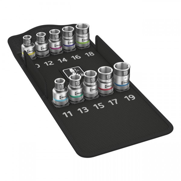 """WERA Tools - """"Zyklop 1/2"""" Hex socket set with holding function Metric"""" - 1/2"""" drive"""