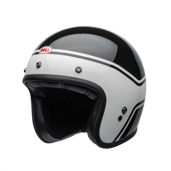 BELL Custom 500 Streak Black White ECE DOT