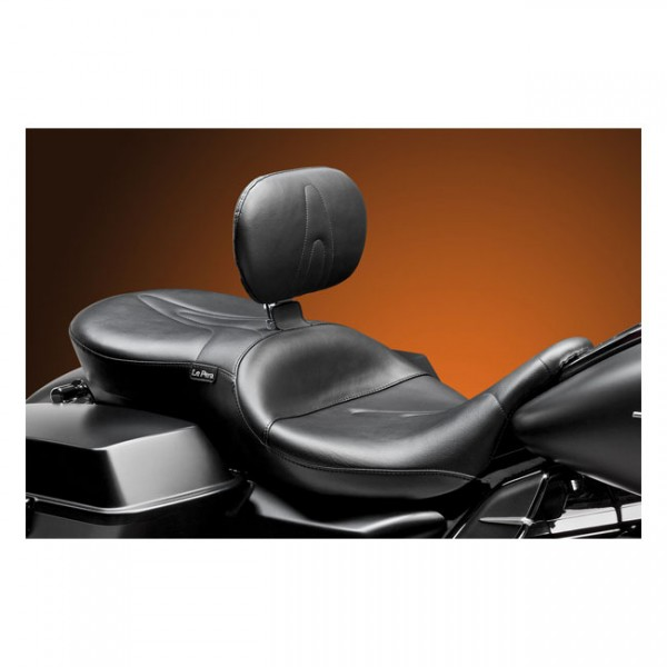 "LEPERA Seat - ""LePera, RT66 2-up seat. With rider backrest"" - 08-20 Touring"