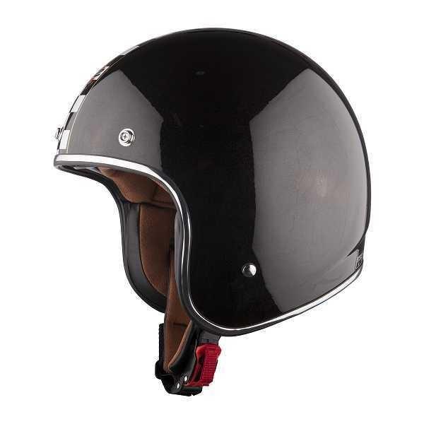 LS2 Bobber - Flagman - schwarz mit Rallystreifen