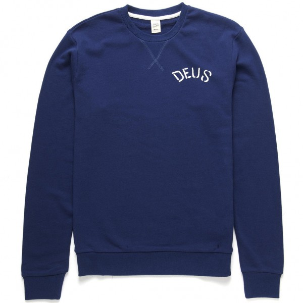 "DEUS EX MACHINA Men's Sweater - ""Flying Skull Crew"" - blue"