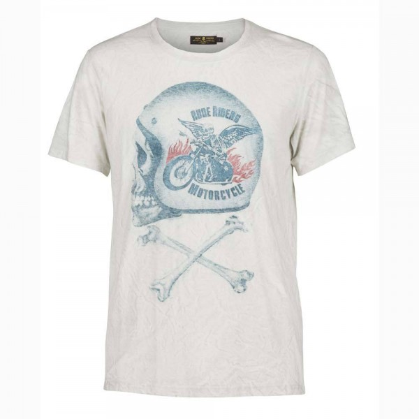 "RUDE RIDERS T-Shirt - ""Motorcycle"" - weiß"