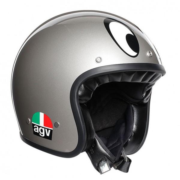 "AGV X70 - ""MontJuic Silver"" - ECE"