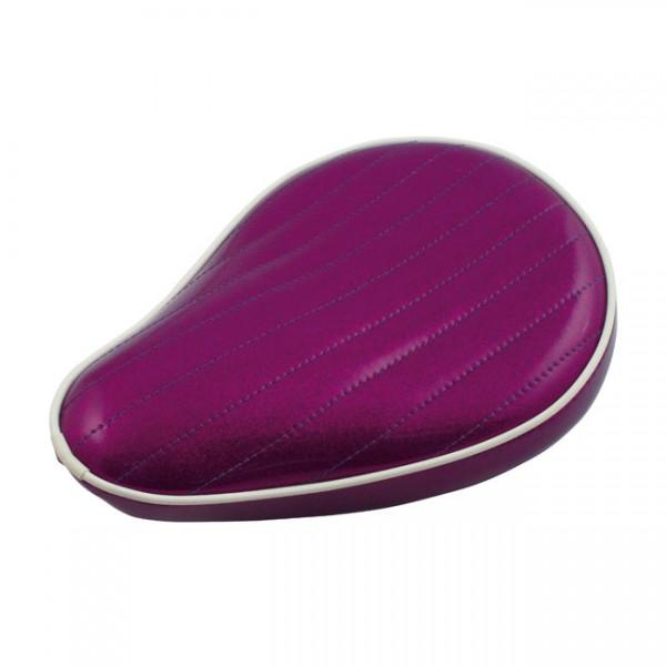 """LEPERA Sitz - """"Spring mounted Metalflake solo seat. Plum Purple"""" -"""