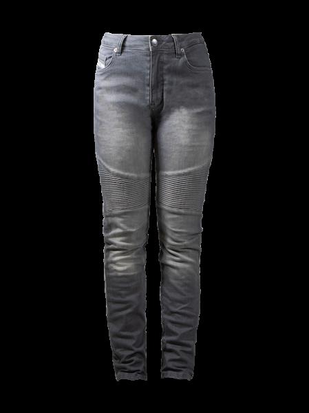 JOHN DOE Damen Jeans Betty Biker Jeans CE XTM, hellgrau
