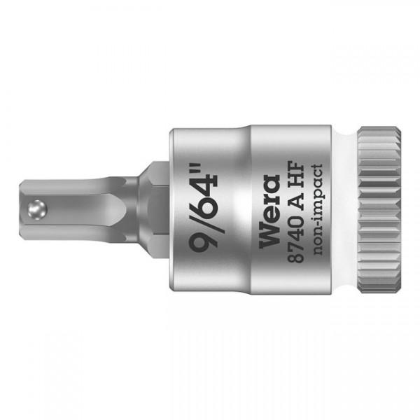 """WERA Werkzeug - """"Wera Zyklop 1/4"""" Innensechskant-Bit mit Haltefunktion US-Größen"""" - Hex (Allen head)"""