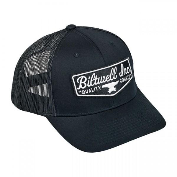 """BILTWELL Cap - """"Shield"""" - black & green"""