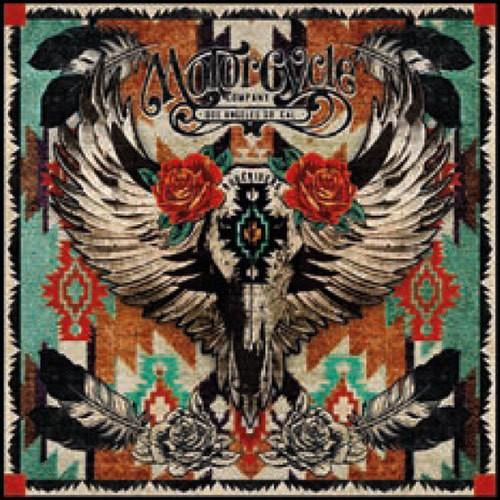 "RUDE RIDERS Tuch - ""Mex Skull Roses"" - 130 x 130 cm"