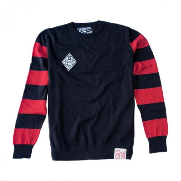13 1/2 MAGAZINE Sweatshirt Outlaw Free Bird schwarz und rot
