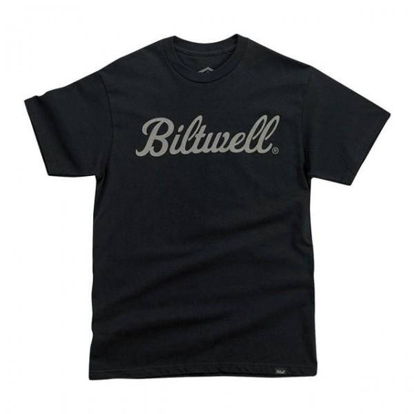 BILTWELL t-shirt Script Grey in black
