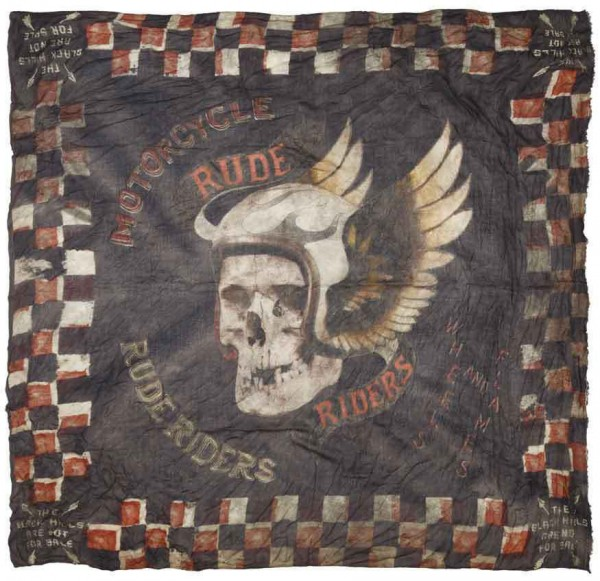 "RUDE RIDERS Scarf - ""Dead Head"" - 140 x 130 cm"