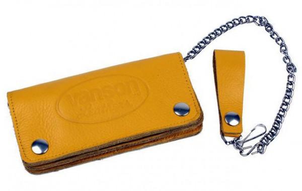 "VANSON LEATHERS Wallet - ""Wallet 2"" - yellow"