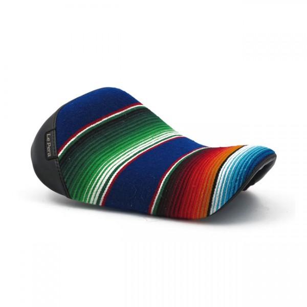 "LEPERA Sitz - ""Bare Bones solo seat. Mex Blanket"" - 04-20 XL (excl. 07-09 XL) with 3.3 gallon fuel t"