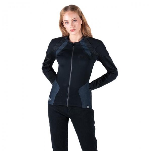 KNOX Damen Protektorenhemd Urbane Pro MK2 in Schwarz und Denim