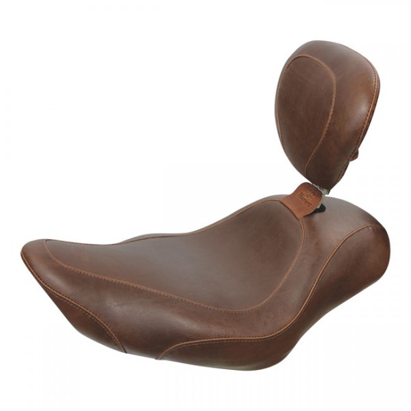 """MUSTANG Seat - """"Mustang, Wide Tripper solo seat. With rider backrest"""" - 04-20 XL (excl. 07-09 XL)"""