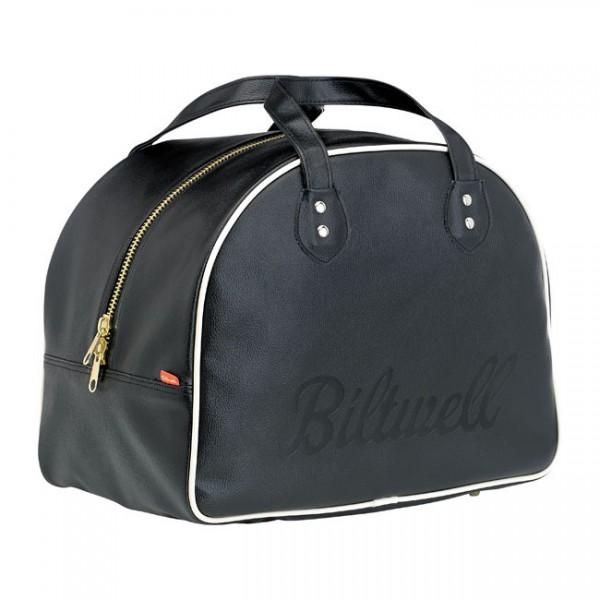 """BILTWELL Helmet Bag - """"Rover"""" - black & white"""