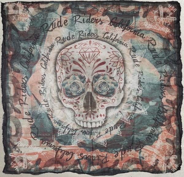 """RUDE RIDERS Tuch - """"Born USA"""" - 140 x 130 cm"""