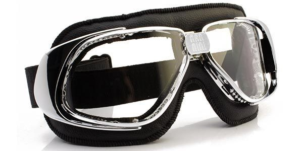 "NANNINI Goggles - ""Rider"" - chrome-black-clear"