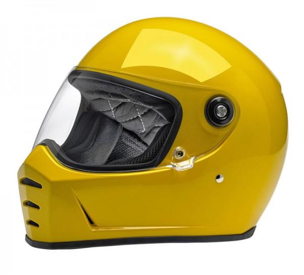 BILTWELL Lane Splitter Safe-T Yellow Motorcycle Helmet