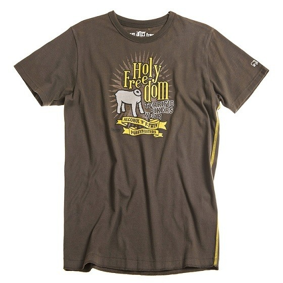 """HOLY FREEDOM T-Shirt - """"Brown"""" - brown"""