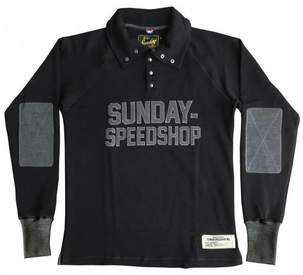 """SUNDAY SPEEDSHOP Sweatshirt - """"Sunday & Sons Petrole"""" - black"""