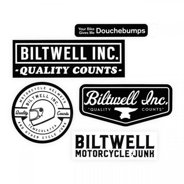 "BILTWELL Stickers - ""Icon Sticker Pack"" - 5 pieces"