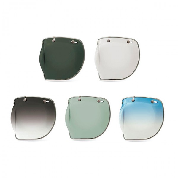 BELL visor 3 Snap Bubble Deluxe with chrome trim