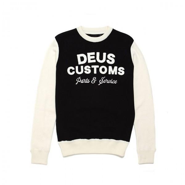 DEUS EX MACHINA Sweatshirt Charleys Moto Knit in Schwarz