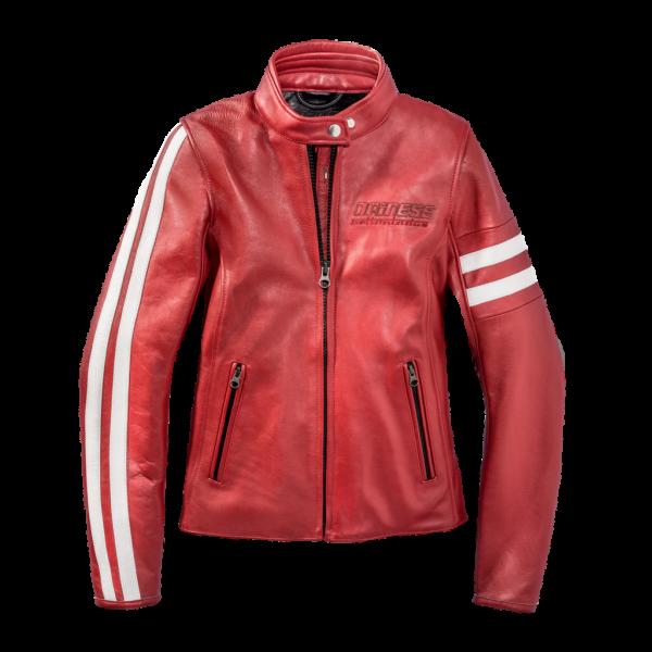 "DAINESE 72 Women's Jacket - ""Freccia 72 Lady"" - red & white"