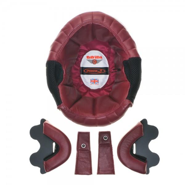 """Davida Speedster v3 - """"Leather Liner"""" - red"""