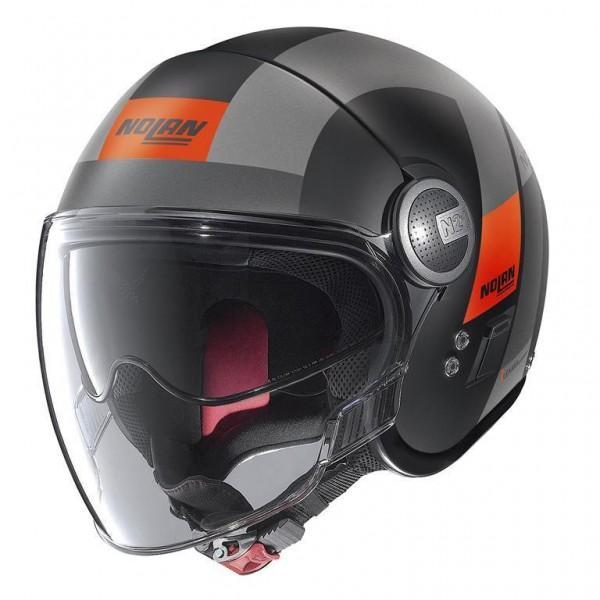 "NOLAN N21 VISOR - ""Spheroid Matt Schwarz/Orange 50"" - ECE"