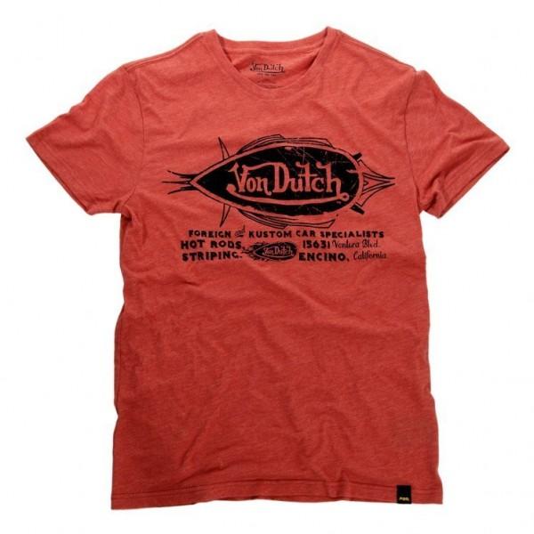 """VON DUTCH T-Shirt - """"Kustom"""" - red"""
