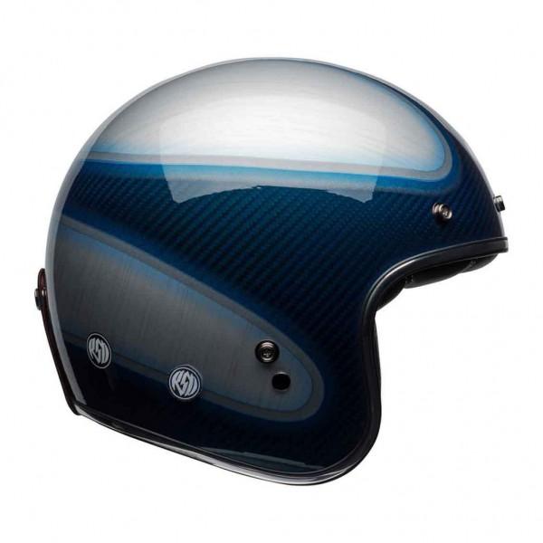 "BELL Custom 500 Carbon - ""RSD Jager Candy Blue"" - ECE"